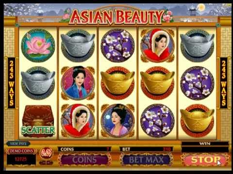 Asian Beauty Slots free spins bonus win