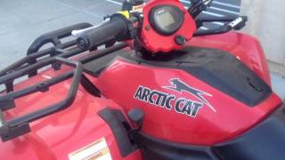 1. Arctic Cat diesel atv walk around and start up