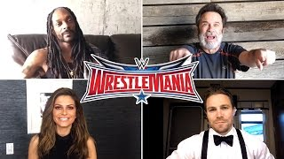 Everyone is gearing up for WrestleMania including Stephen Amell, Dennis Miller and more celebrites
