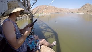 Fishing From a 25 ft High Railroad Bridge!