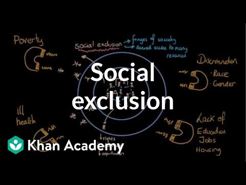 Social Exclusion (segregation And Social Isolation) (video) | Khan Academy