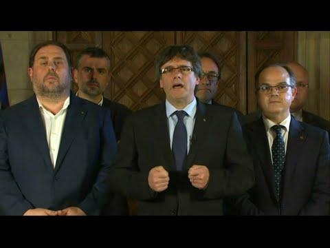 """""""Nous avons gagné le droit d'avoir un État indépendant"""", estime le président de la Catalogne"""
