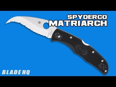 Spyderco Matriarch Flat Ground Folding Knife Brown FRN (Satin PLN) C12PBN