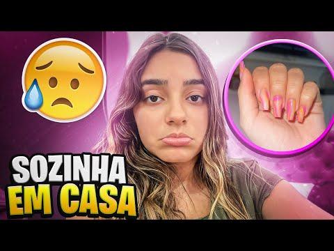 ROTINA SOZINHA EM CASA- FIZ AS UNHAS + TO DOENTE