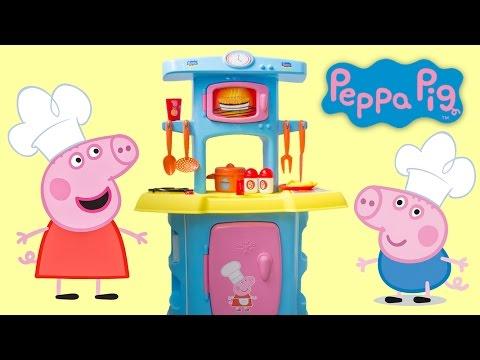 Peppa Pig Mini Kitchen Peppa Pig Cooking Playset Cocinita Peppa Pig Play Doh Food Toy Videos