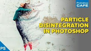PARTICLE disintegration EFFECT in PHOTOSHOP tutorial. Make a teleporting dispersion effect