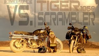 2. Triumph Tiger 1050 vs. Triumph Scrambler (Nick Apex & Ernie Vigil)