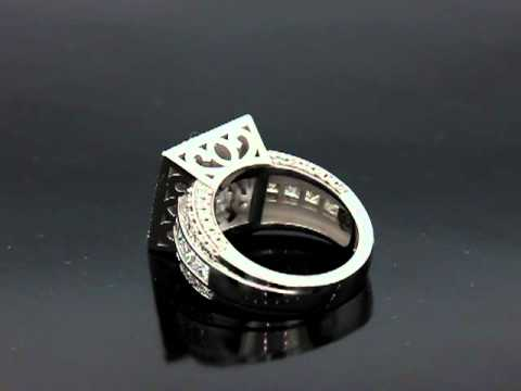 J.R. Square Halo Ring Finished