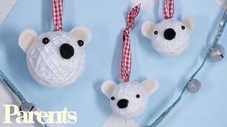Christmas Crafts: Polar Bear Christmas Ornaments - YouTube