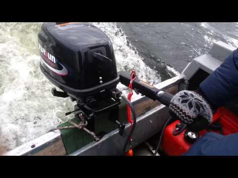 лодка с мотором 5.л.с парсун видео