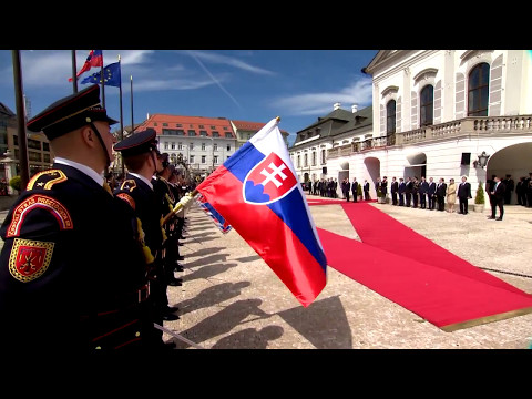 Prince Albert II makes an official visit to Slovakia