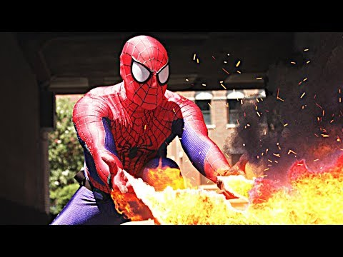 SpiderMan Battles Enemies With His New Web Mods in a Cheesy Special Effects