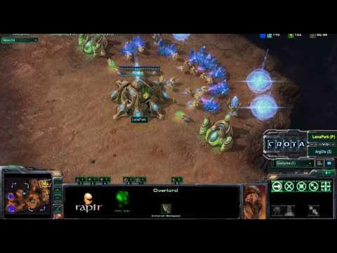 StarCraft 2 - SC201 LenaPark vs Argos PvZ on Blistering Sands Part 1