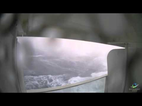 VIDEO: Cruise Ship Heads Right Into Hurricane