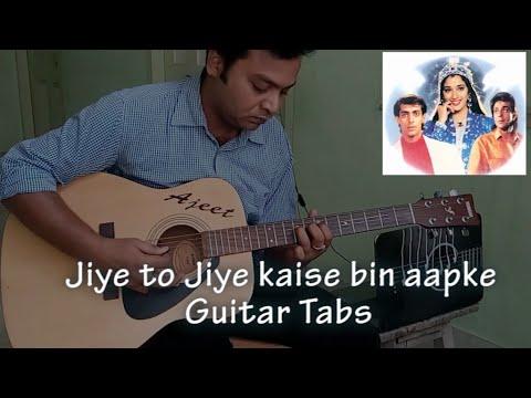 Video jiye to jiye kaise bin aapke (Saajan) guitar tabs with Karaoke download in MP3, 3GP, MP4, WEBM, AVI, FLV January 2017