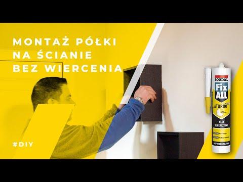 Błyskawiczne mocowanie półki do ściany