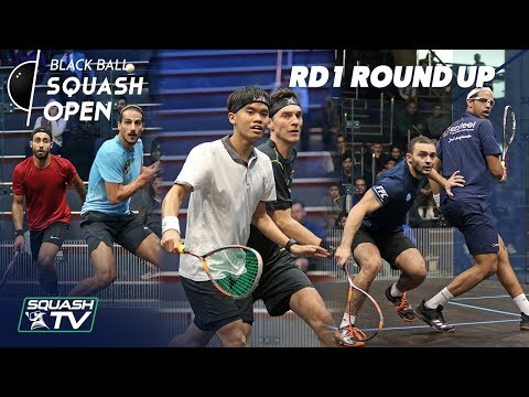 Squash: CIB Black Ball Squash Open 2018 -  Rd 1 Roundup