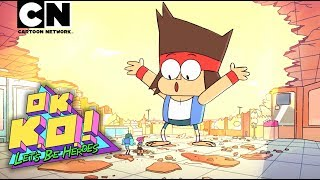 Meet the star from the new show from Ian Jones-Quartey, KO! KO is a little boy with big dreams - to be the next best hero of Lakewood City Plaza!OK K.O.! Premieres Tuesday, 8/1 on Cartoon Network!CN GAMES: http://bit.ly/CNGamesSUBSCRIBE: http://bit.ly/109Y6wqWATCH MORE: http://bit.ly/1RBYuNiAbout Cartoon Network:Welcome to the Cartoon Network YouTube Channel, the destination for all of your favorite cartoons and videos. Watch clips from shows like Teen Titans Go!, Steven Universe, Clarence, Adventure Time, Uncle Grandpa, The Amazing World of Gumball and more!Connect with Cartoon Network Online:Visit Cartoon Network WEBSITE: http://bit.ly/90omi9Like Cartoon Network on FACEBOOK: http://on.fb.me/SULxhQFollow Cartoon Network on TWITTER: http://bit.ly/XqeBXfFollow Cartoon network on TUMBLR: http://bit.ly/1B3nUQFOK K.O.!  Let's Be Heroes  Cartoon Networkhttp://www.youtube.com/user/CartoonNe...