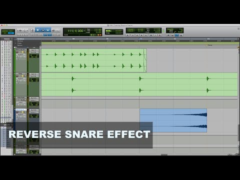 Creating a Reverse Snare Effect in Pro Tools