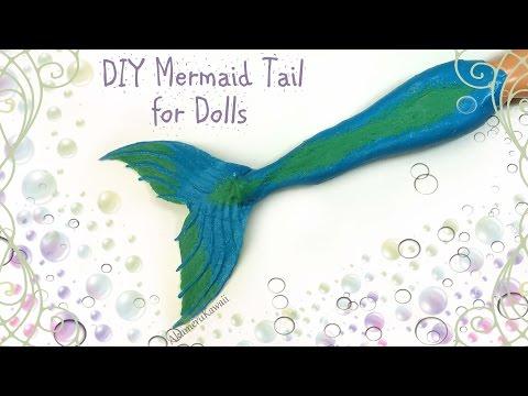 DIY Doll Mermaid Tail (видео)