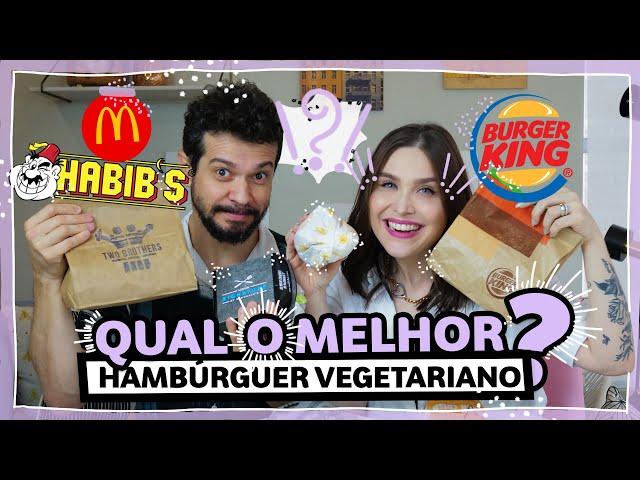 Provando Hambúrguer Vegetariano #DEGUSTACHATA #CHATATODODIA   Lu Ferreira   Chata de Galocha - Chata de Galocha
