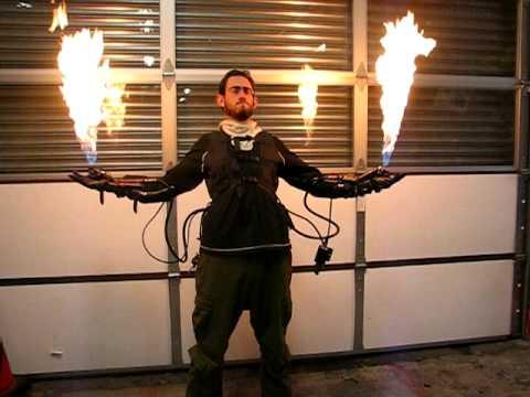 Flame glove