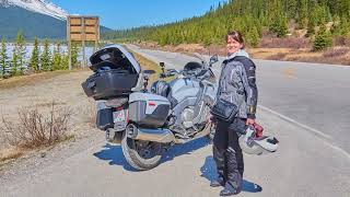 4. Icefields Parkway on the BMW K1600GTL May 2018
