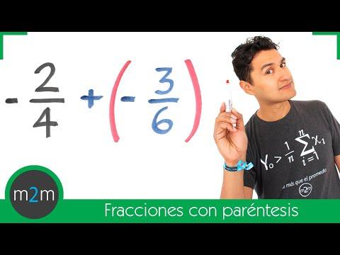Ejercicios de suma o resta de 2 fracciones con paréntesis