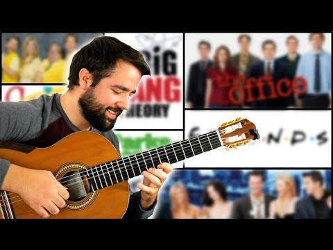Guitarist plays top TV Sitcom theme songs 100% in sync with the shows' intros