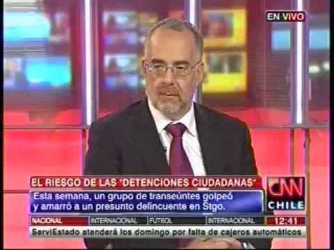 """CNN: Entrevista a Defensor Regional Metropolitano Norte tras """"detención ciudadana"""" a adolescente."""