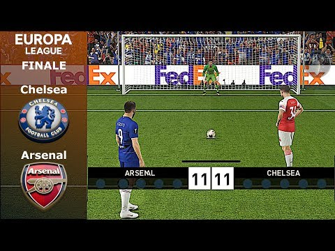 Chelsea Vs Arsenal • Finale di UEFA Europa League (Calci di Rigore) • PES 2019 Patch [Giù]