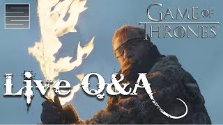 Game of Thrones Season 7 Predictions - Live Q&A!Subscribe! http://tinyurl.com/o93l5gnNEW Shirts! https://teespring.com/stores/smokescreenvidsGame of Thrones Season 7 live stream, answering your questions, talking about the Game Of Thrones Season 7 trailer and just hanging out with you guys.  Game of Thrones Season 7 is right around the corner.  Get hype!Game Of Thrones Official Coins! Shire Post Mint: http://shirepost.comDonate:  https://youtube.streamlabs.com/smokescreenvids1 (Will show on screen while streaming!)Music by TeknoAXE : https://www.youtube.com/watch?v=mekAc_3uWNY___________________________________________Become a Patreon: https://www.patreon.com/smokescreenvidsGet My Nerdy T-Shirts here: http://shrsl.com/?~aby2Support SmokeScreen by shopping on Amazon: http://tinyurl.com/ppogxl2Geek Gear: http://www.jdoqocy.com/click-8070392-...____________________________________________________Send Stuff:Lochmoor ProductionsPO Box 1011Kannapolis, NC 28083Follow Me on Social: Facebook: https://www.facebook.com/smokescreenvidsTwitter: https://twitter.com/smokescreenvids @smokescreenvidsInstagram: https://instagram.com/smokescreenvids @smokescreenvidsWebsite: http://smokescreenvids.com