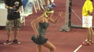 Victoria Azarenka dancing to Sexy and I Know It and Gangnam Style