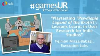 Lessons Learnt in User Research for Indie Studios