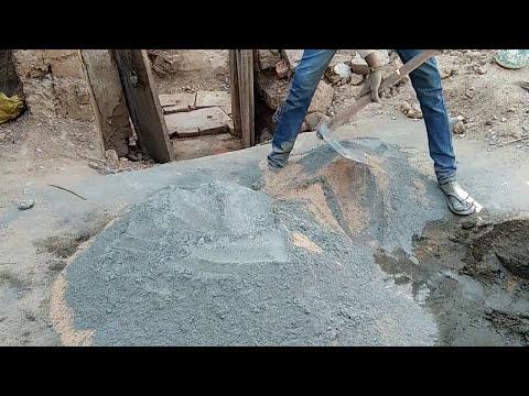 Preparing of mortar mix ratio