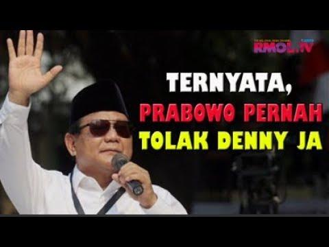 Ternyata, Prabowo Pernah Tolak Denny JA