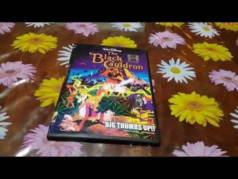 The Black Cauldron DVD Unboxing Glowing Cover