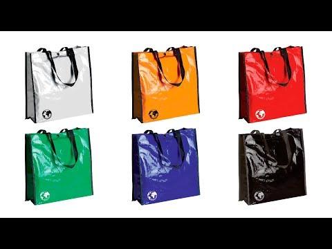 Bolsa reciclable biodegradable personalizada rojo
