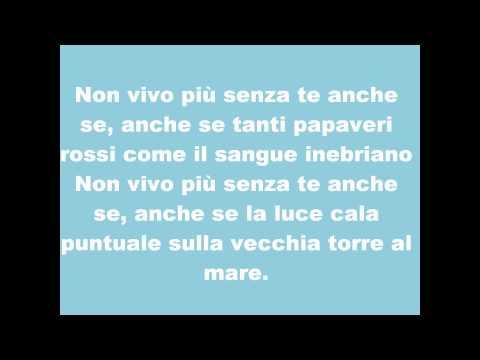 , title : '**TESTO** Biagio Antonacci - Non vivo più senza te'