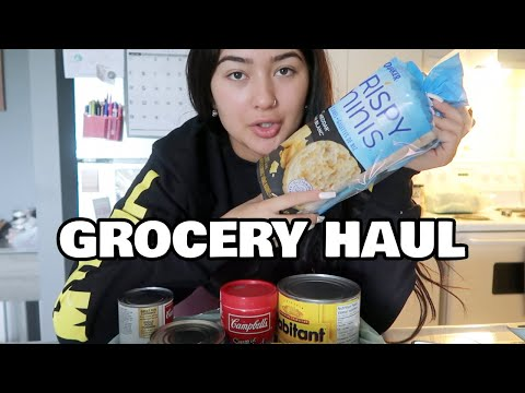 GROCERY HAUL | Pretending Im Healthy For 10 Mins Straight