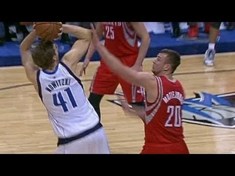 Donatas Motiejunas Highlights: 12 Pts, 13 Reb vs. Dirk, Mavs