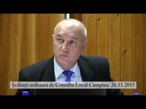 Sedinta Consiliul Local Campina – 26 noiembrie 2015 – partea a III-a