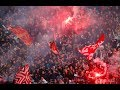 Red Star Belgrade Fans Marching To The Emirates Stadium!!!!