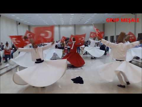 Osmaniye'li semazenlerin bayrağımızla yaptıkları muhteşem gösteri