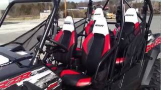 9. RANGER RZR 4 800 EPS BLK/WHT/Red RG LE Robby Gordon Edition