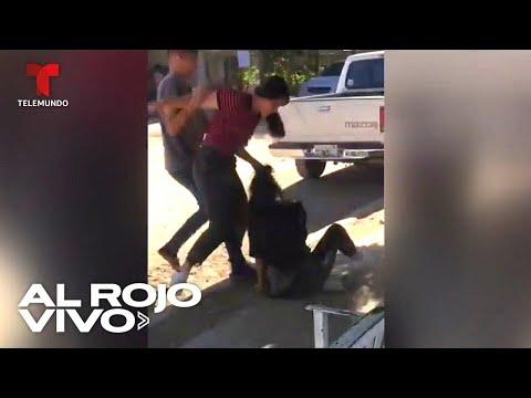 Captan la agresión de una joven a otra mujer en plena calle de Sonora, México