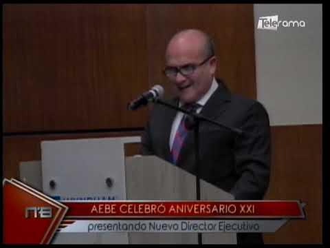 AEBE celebró aniversario XXI presentado nuevo director ejecutivo