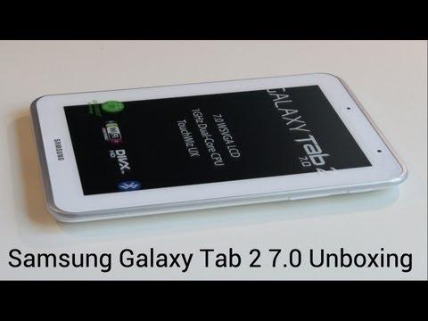 Samsung Galaxy Tab 2 7.0 Unboxing