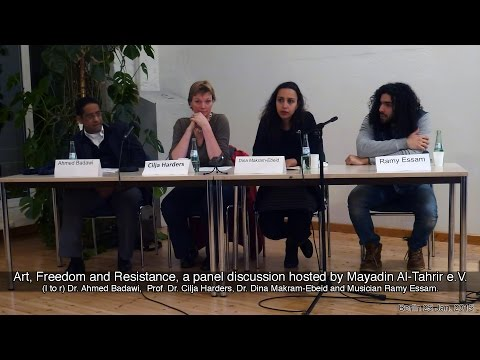 Art, Freedom and Resistance, a panel discussion about Egyptian politics in Berlin 25.01.2015