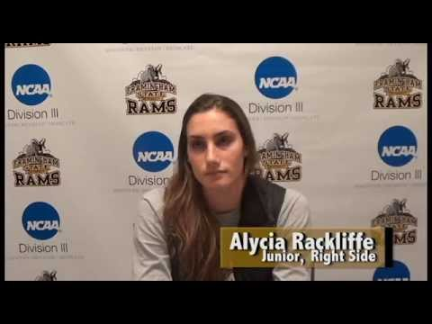 Alycia Rackliffe- Framingham St. Athlete of the Week- 11/8/15